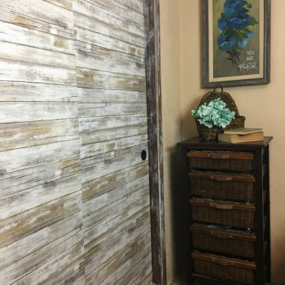 Bargain sliding closet door makeover,