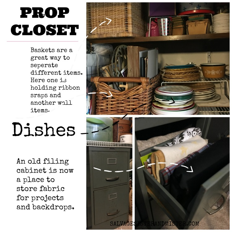 blogging photography setup prop closet #blogging #organizing
