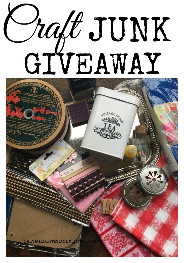 Joining fabulous bloggers in another craft junk giveaway -april #craft #diy #vintage