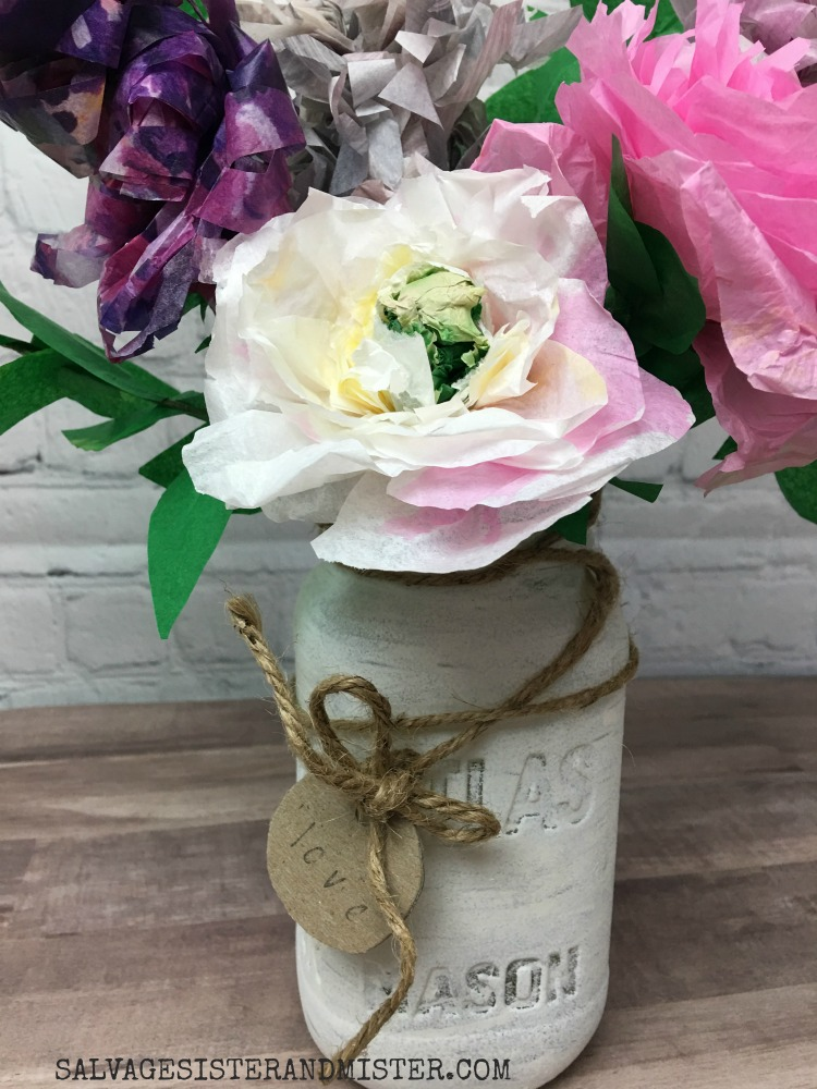 Making a tissue paper bouquet with leftover items #craft #diy #wastenotwantnot