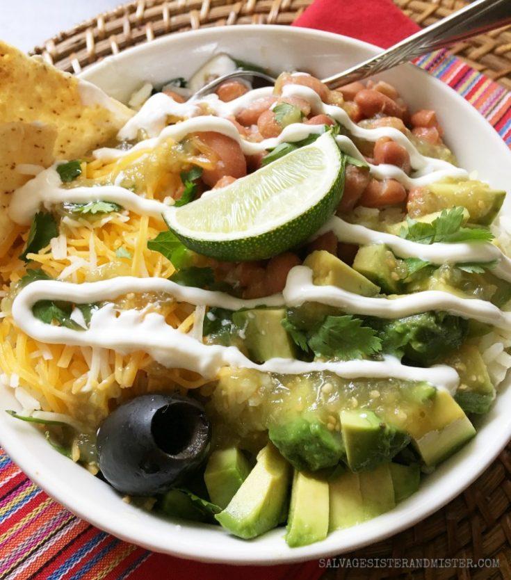 Leftover Rice Burrito Bowl