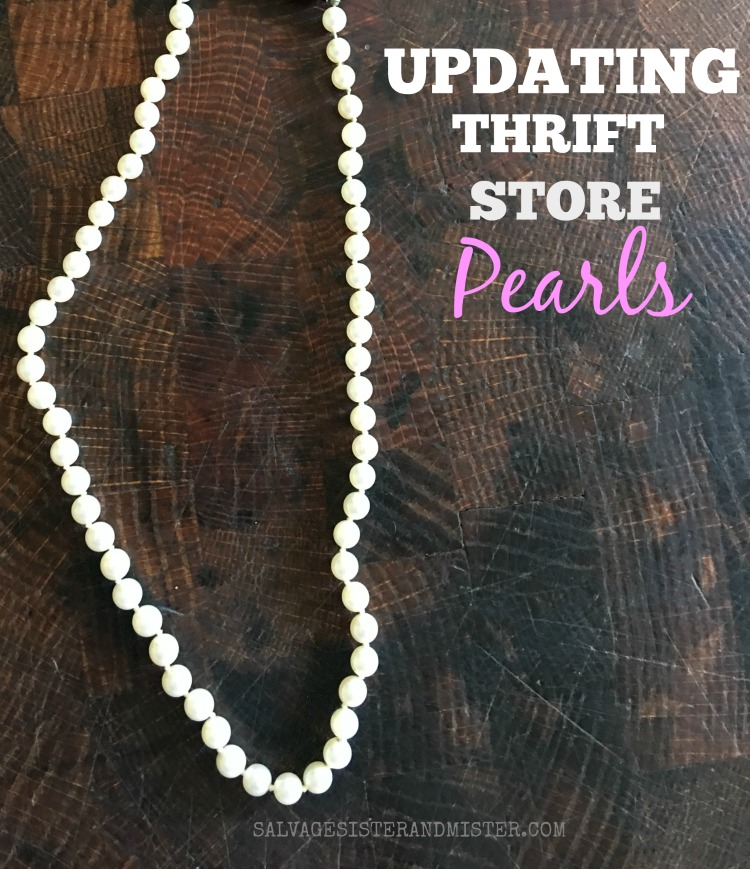 updating thrift store pearls on salvagesisterandmister.com