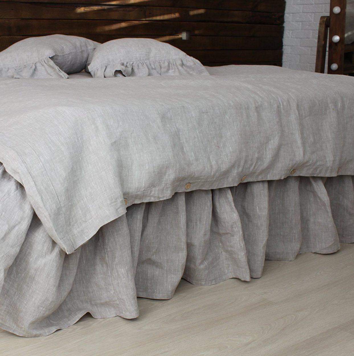 affiliate link - amazon linen bed skirt