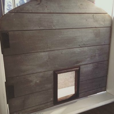 building an upcycled pet door
