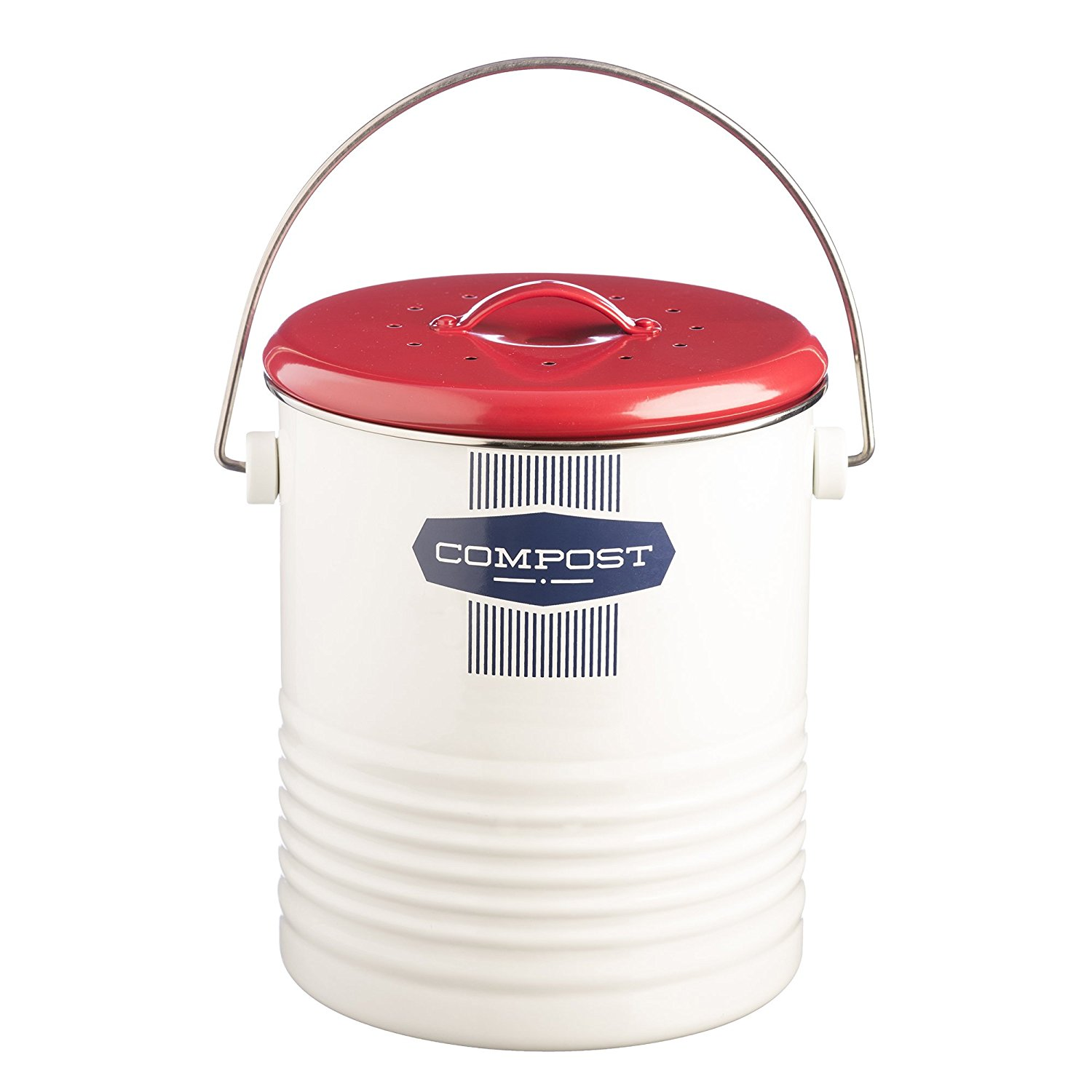affiliate link amazon typhoon compost caddy vintage red white and blue kitchen