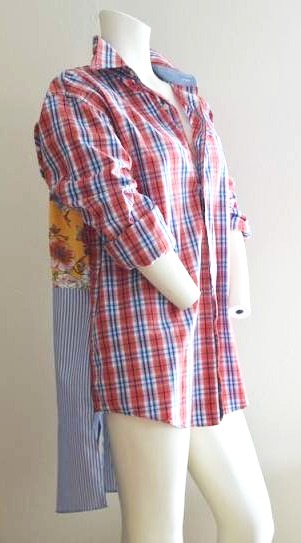 make your own thrifted boho shirt with this tutorial at salvagesisterandmister.com