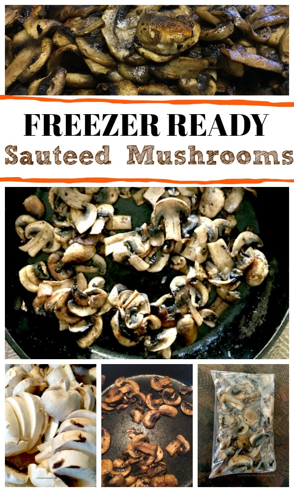 Mushrooms only last 1-2 days in the refrigerator. If you don't think you'll use them before they go bad make freezer ready sauteed mushrooms...#wastenotwantnot #foodwaste #mealplanning #freezerready #mushrooms