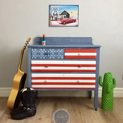 Patriotic dresser project by Alison West - Painted furniture