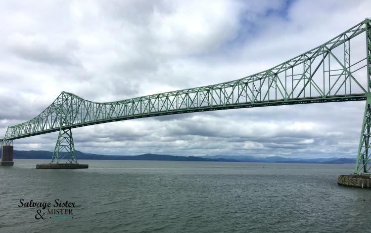 Weekend in Astoria - Astoria bridge over the Columbia River - more at salvagesisterandmister.com