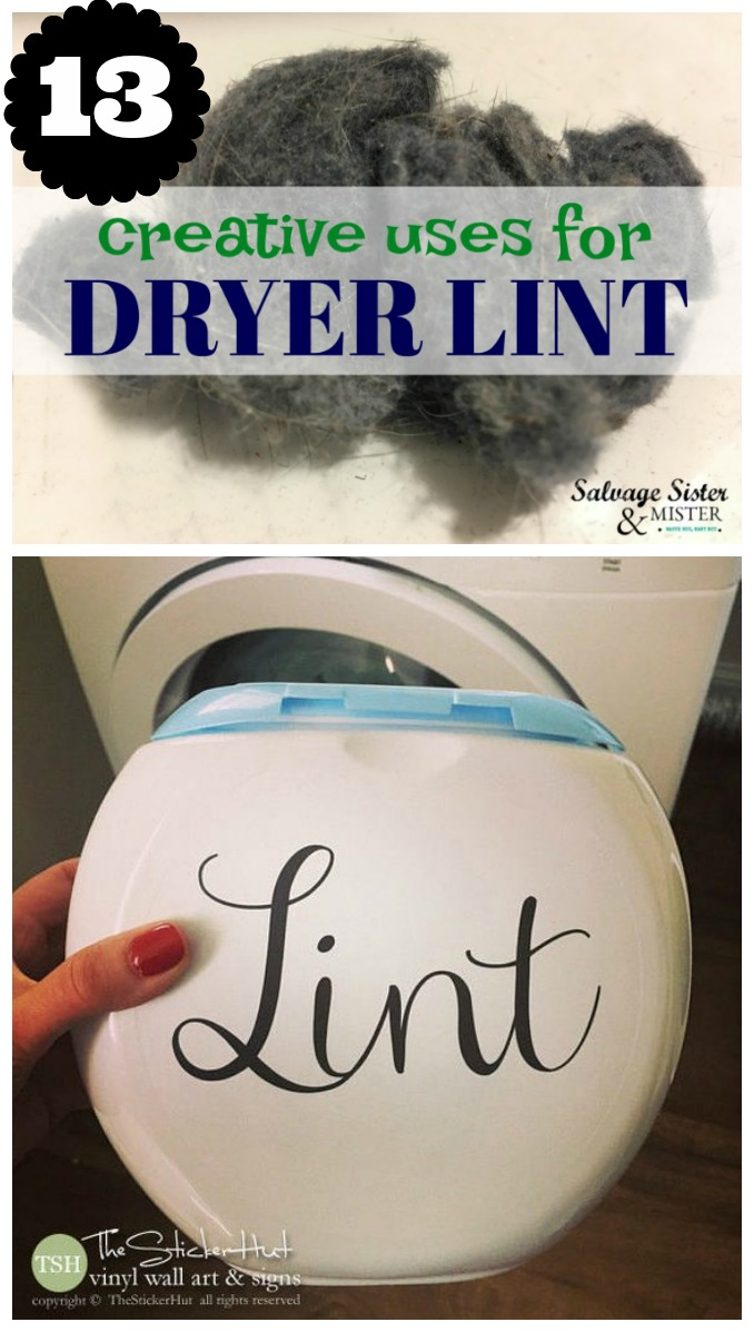 Yes, you can reuse dryer lint. Here are 13 ways to repurpose or reuse it from crafts to compost and lots in between. Found on salvagesisterandmister.com
