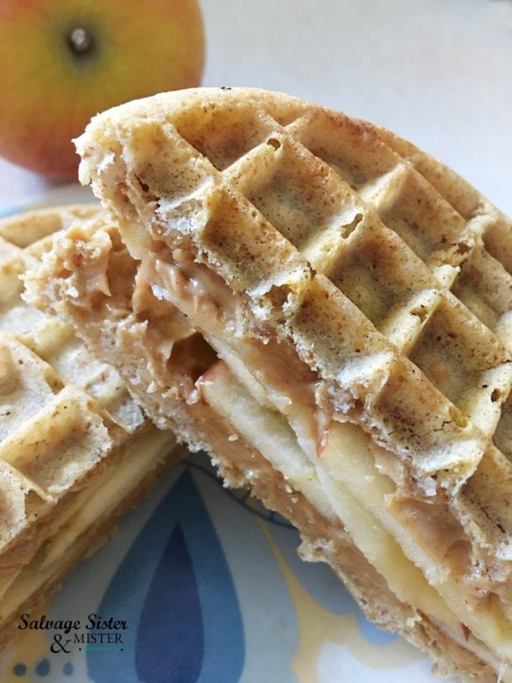 On The Go Breakfast Waffle Sandwich on salvagesisterandmister.com