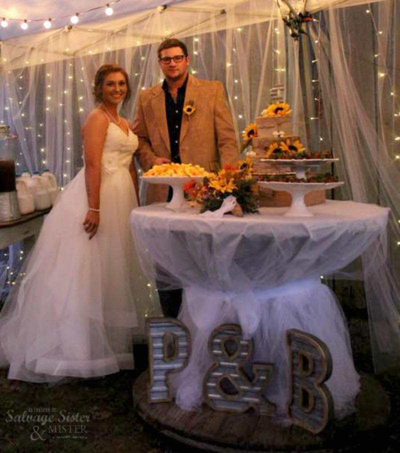 backyard barn wedding feature on salvagesisterandmister.com