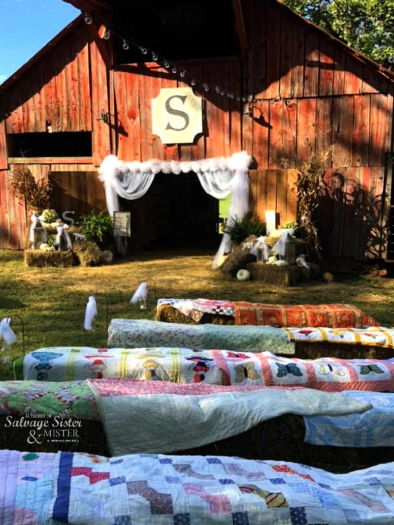 backyard barn wedding on a budget