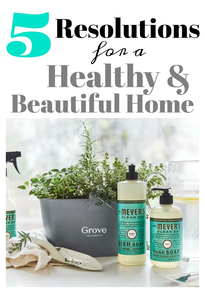 New Year's Resolutions your your home?  Yes, perfect way to save money, buy less, and have a less toxic home.  #simpleliving simplehome
