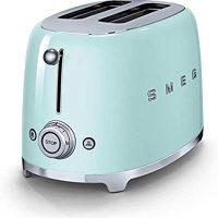 Smeg TSF01PGUS 50's Retro Style Aesthetic 2 Slice Toaster, Pastel Green