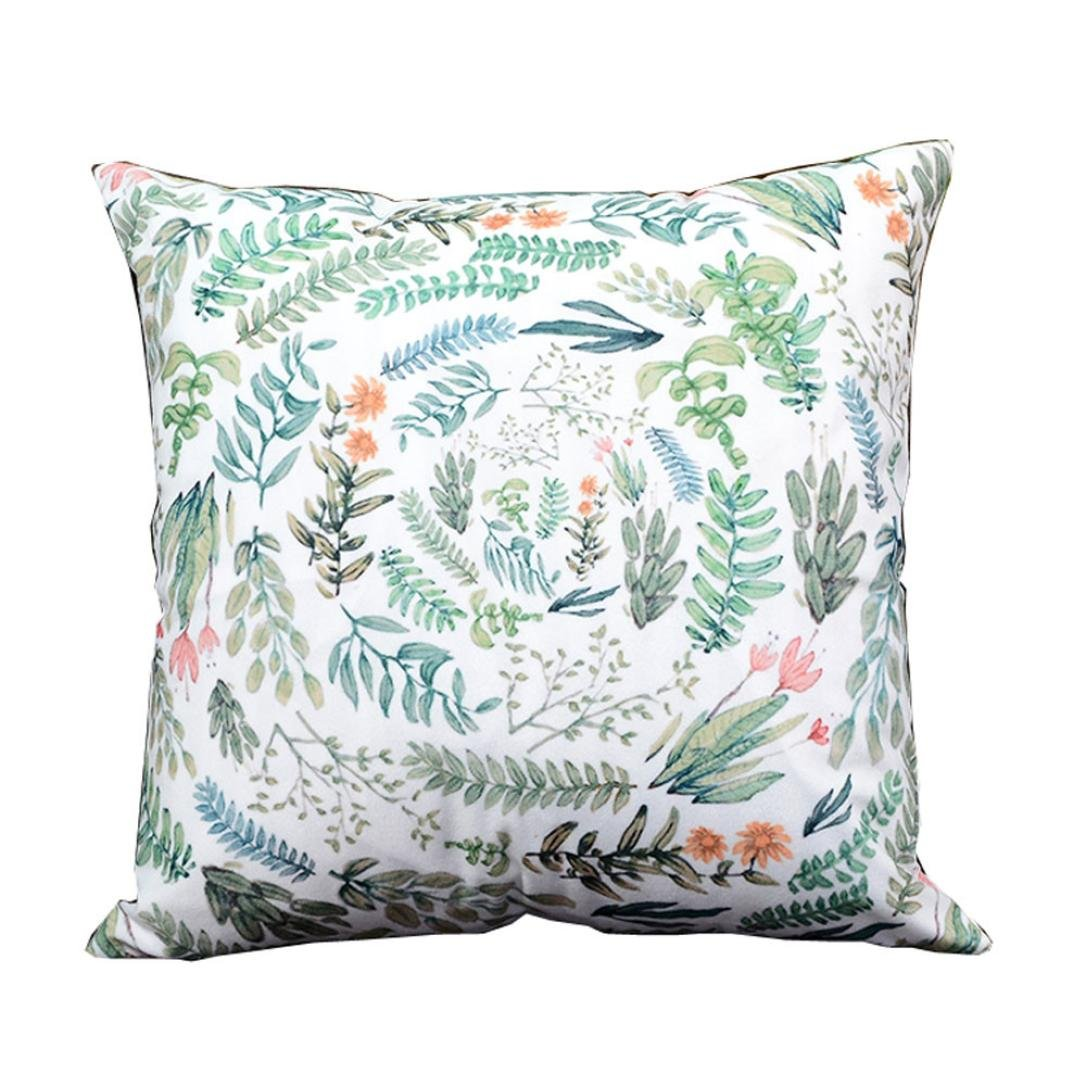 Beautiful botanical floral spring pillow cover for inexpensive home decorating - on a budget affiliate link