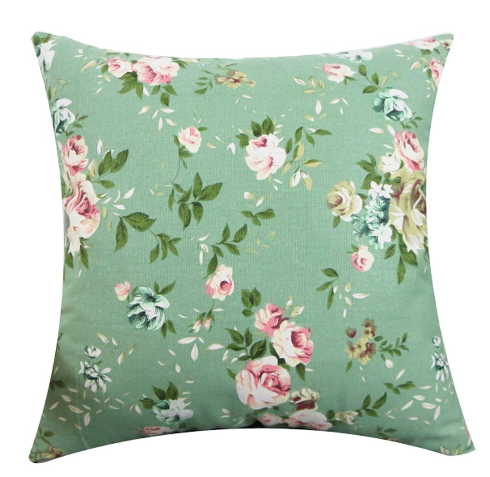 beautiful spring floral pillow case perfect for adding a touch of spring to your home decor on a budget affiliate link