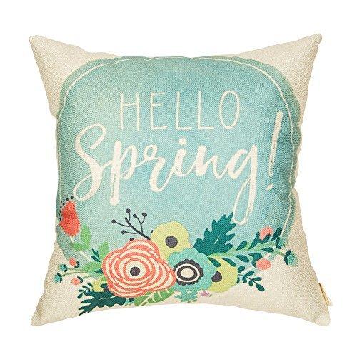 hello spring pillow cover for your home decor - budget decor aff link