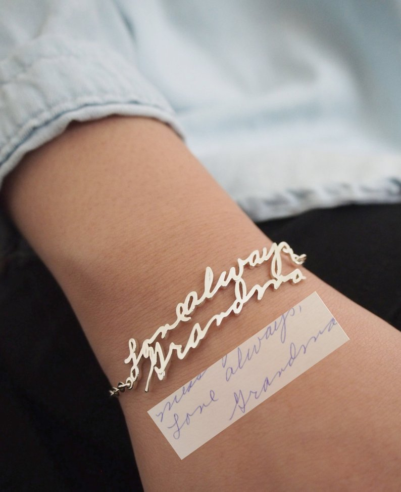 handwriting bracelet for mothers day gift affiliate link