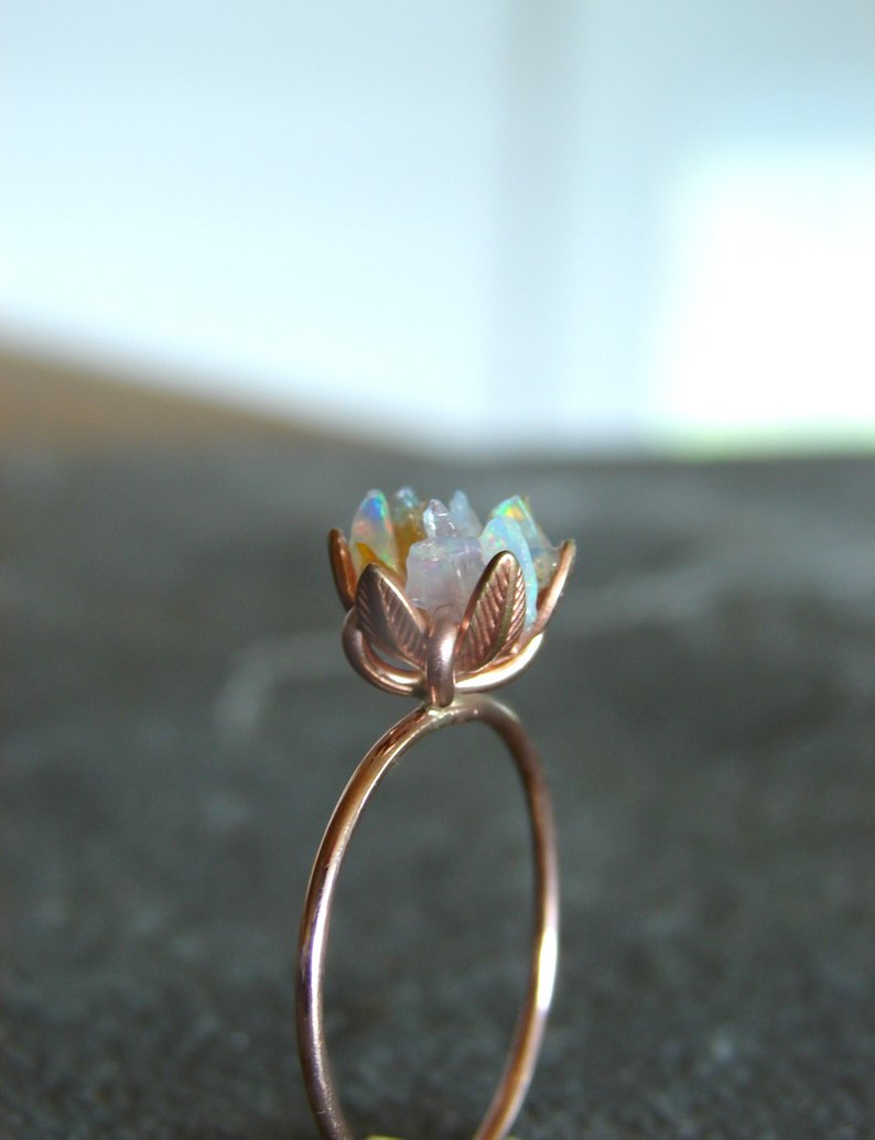 lotus flower opal ring mothers day affiliate link