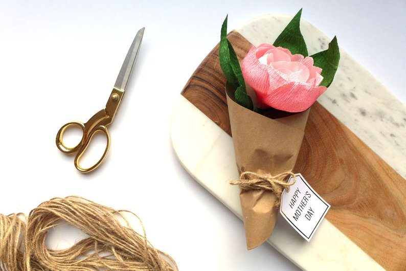 handmade paper flowers- unique mother's day gift ideas affiliat e link