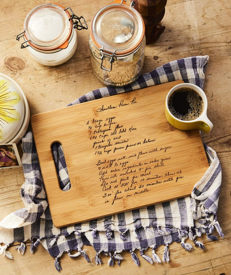 custom recipe cutting board - unique mother's day gift ideas affiliate link