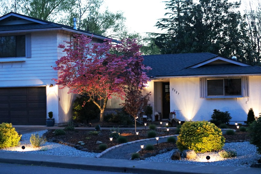 Increasing curb appeal landscape lighting