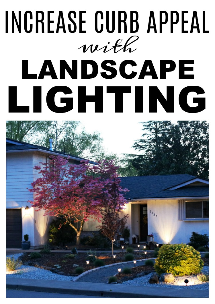 Do you want a little more curb appeal to your home? Landscape lighting really takes a regular yard and turns it into something special. Find the lights we used to brighten up our yard, provide some extra security, and enjoyment to our home on salvagesisterandmister partnered with The Home Depot to share all the possible ideas for your landscaping needs. #sponsored #home #landscaping