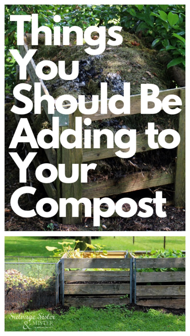 Starting a compost pile?  Do you know what you should be adding?  Here are some ideas to get you started to creating awesome soil for your garden.  #compost