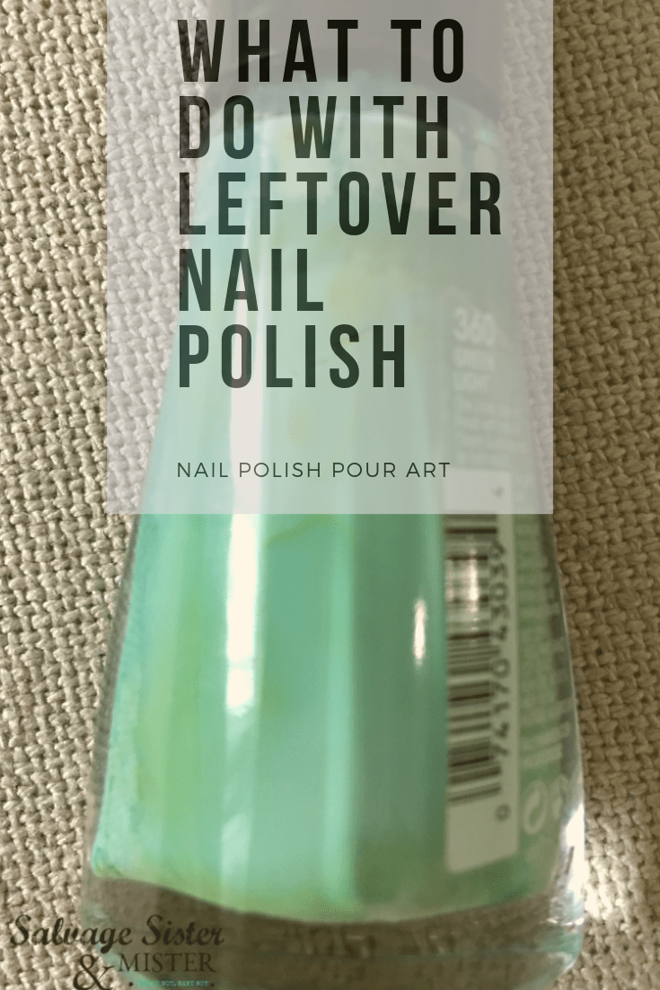 What to do with leftover nail polish...nail polish pour art craft details on salvagesisterandmister.com