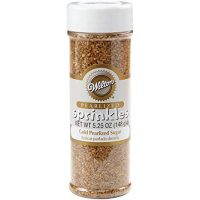 Wilton Gold Pearlized Sugar Sprinkles, 5.25 oz.