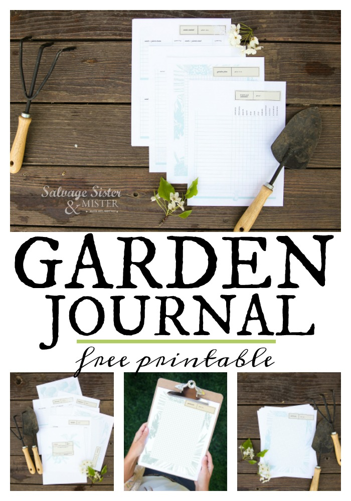 No matter if you have started a garden yet or not, here is a great garden journal printable that will keep your garden organized. Keep track of what you planted (seeds or plants) and what their needs are, how they are doing, where they are planted, etc. each year you can keep track of your plants and even rotating so your soil recovers. Get this free printable at salvagesisterandmister.com