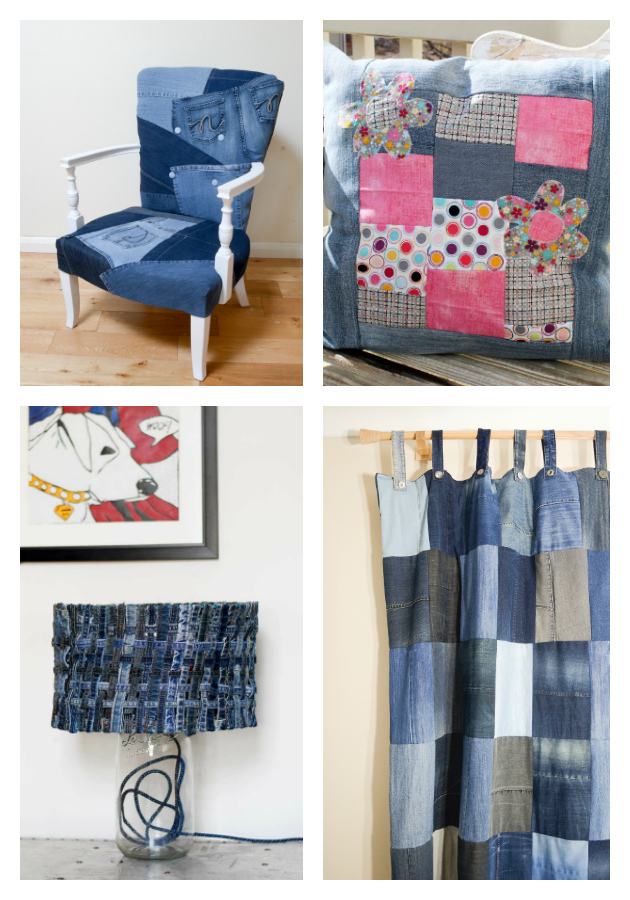 repurposed denim home decor projects - 21 of the Best Upcycled Denim Ideas