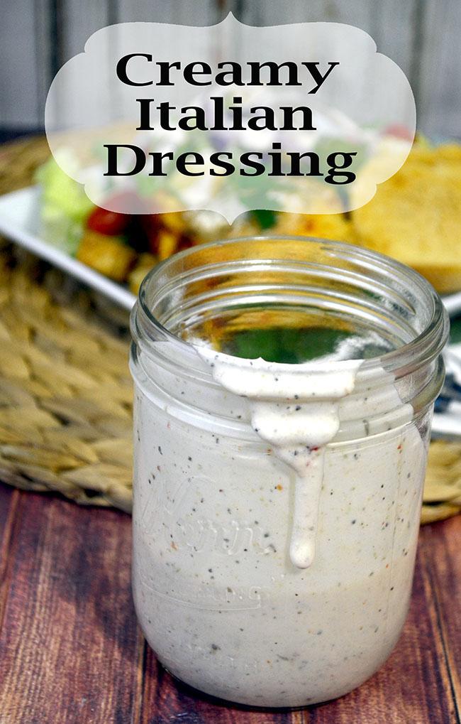 homemade creamy Italian dressing