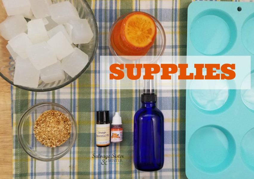 supplies for orange peel soap on salvagesisterandmister.com