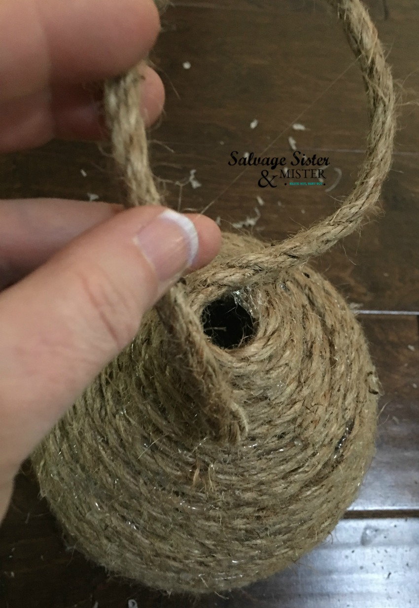 how to make a rope beehive for decorating