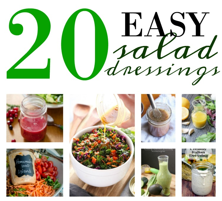 20 easy to make homemade salad dressings