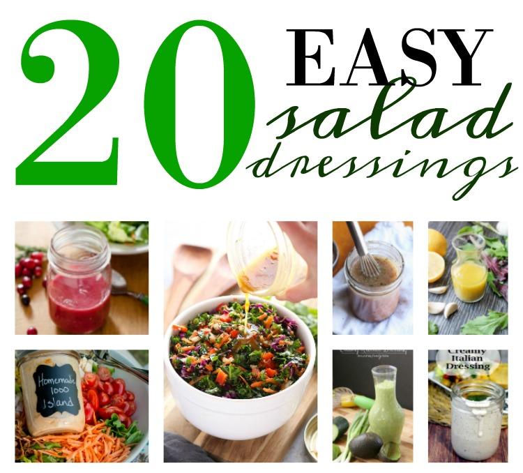 20 easy to make homemade salad dressings