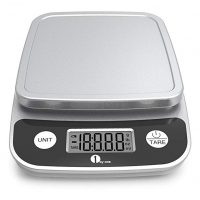 1byone Digital Kitchen Scale Precise Cooking Scale and Baking Scale, Multifunction with Range From 0.04oz to 11lbs, Elegant Black