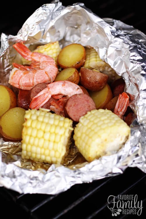cajun style foil packet dinner