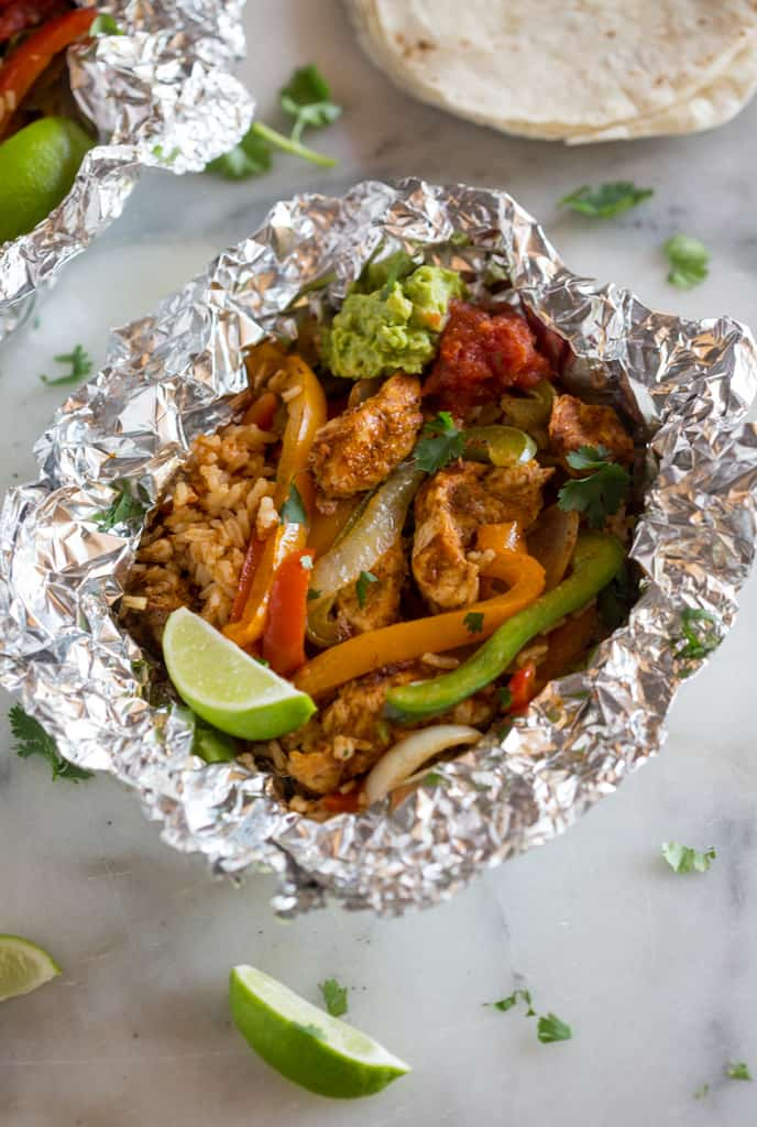 chicken fajita foil packet dinner