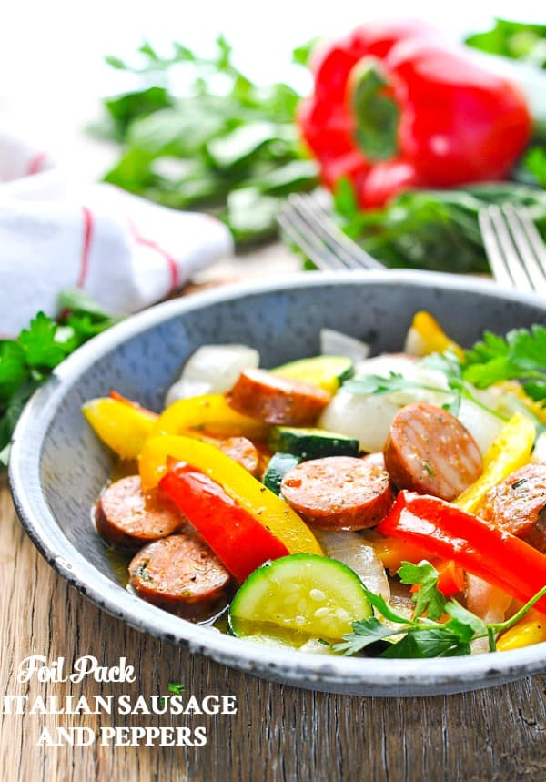 foil pack sausage and peppers