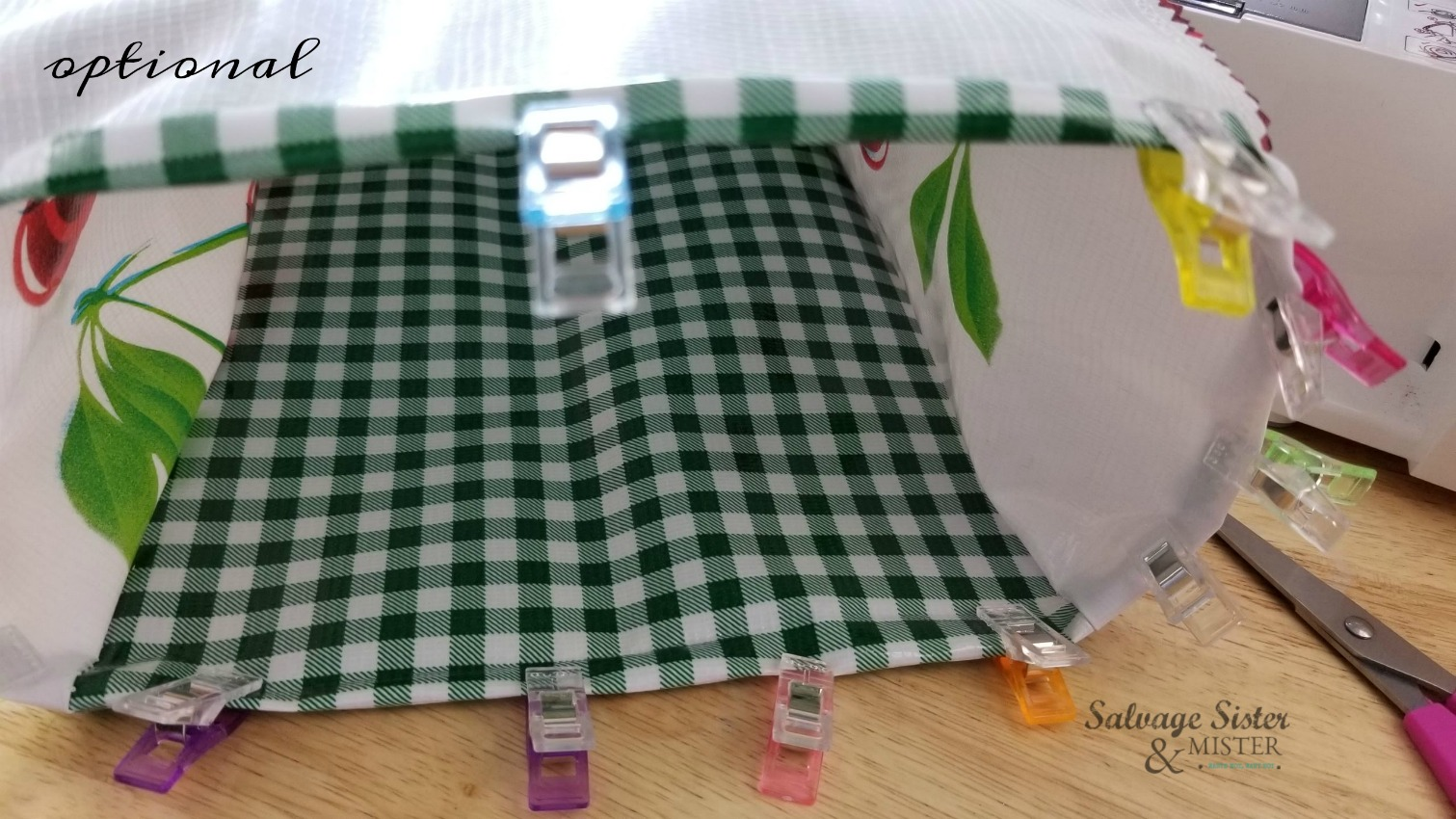 sewing project on salvagesisterandmister.com reusable lunch bags