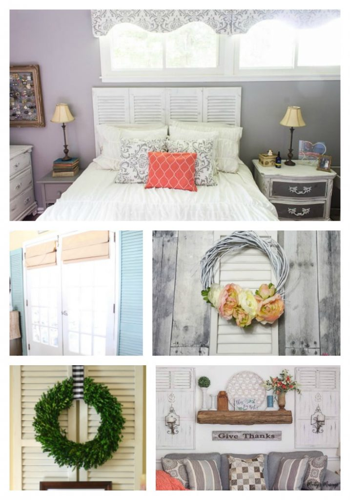 diy upcycle shutter projects