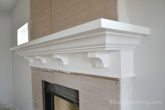 building fireplace mantel