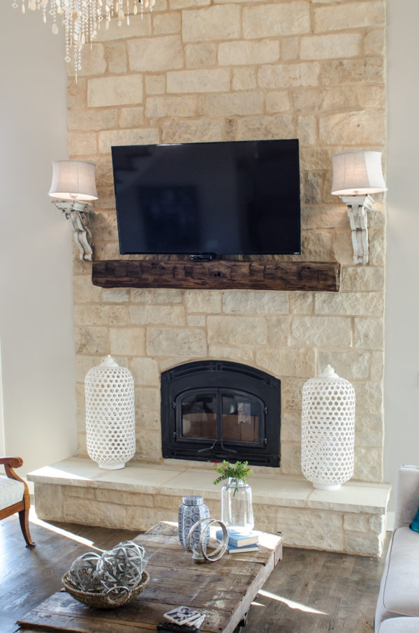 old beam mantel