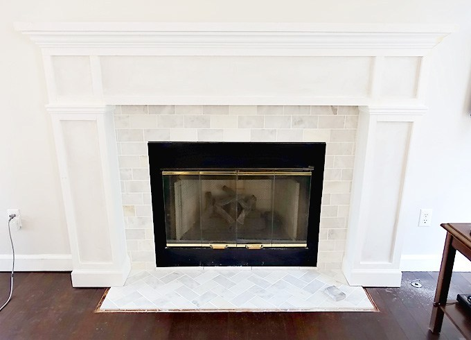 fireplace makeover mantel