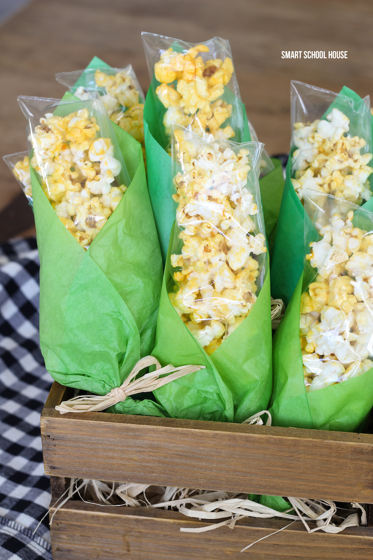 popcorn tissue paper treat bags for fall