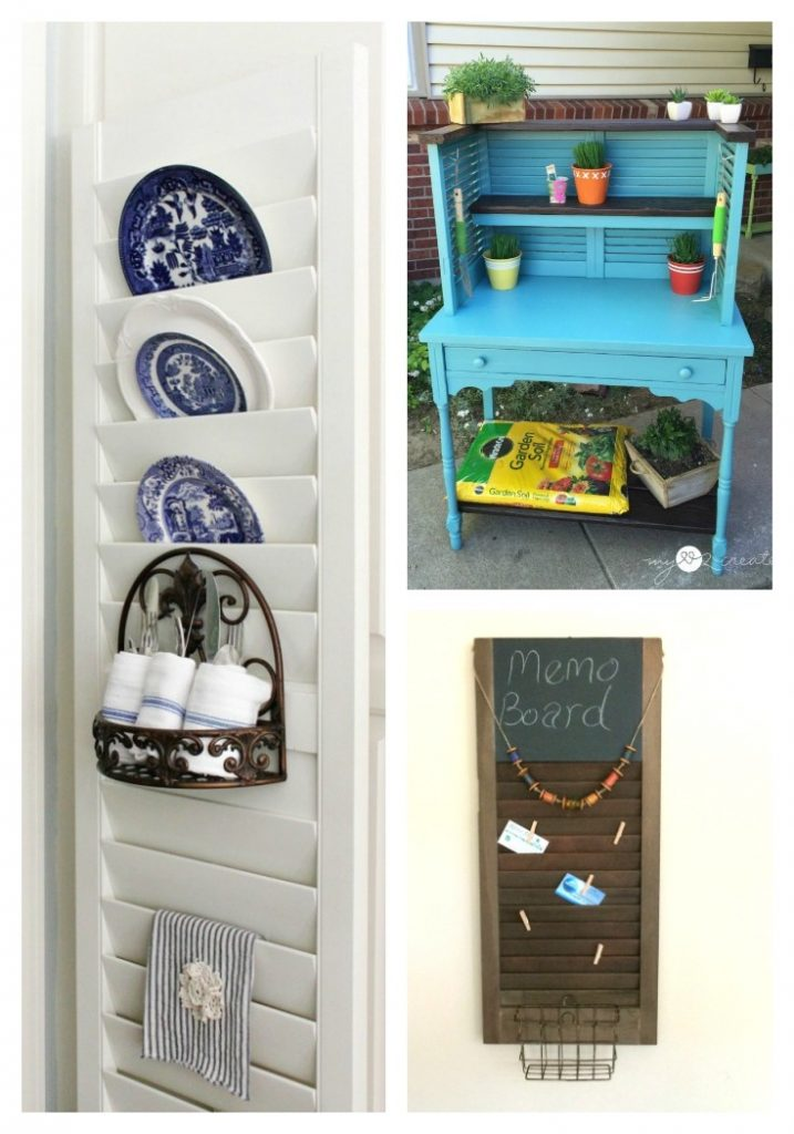 upcycled shutter projects