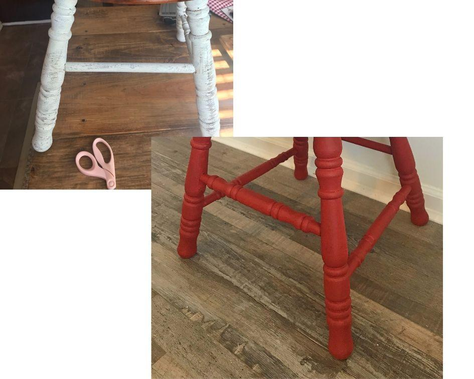 DIY project - repurpose - reuse - upcycled chair stool seat great way to make use of the discarded